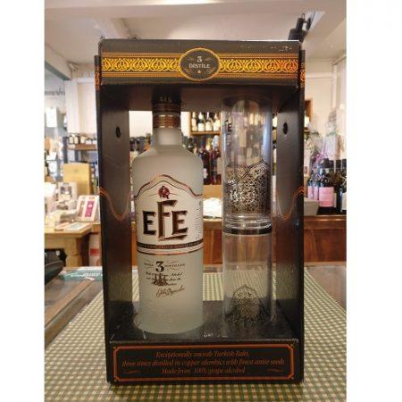 Efe, Triple Distilled Efe Raki 70cl. m. 2 glas