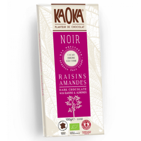 CHOCOLAT NOIR RAISINS AMANDES - 100